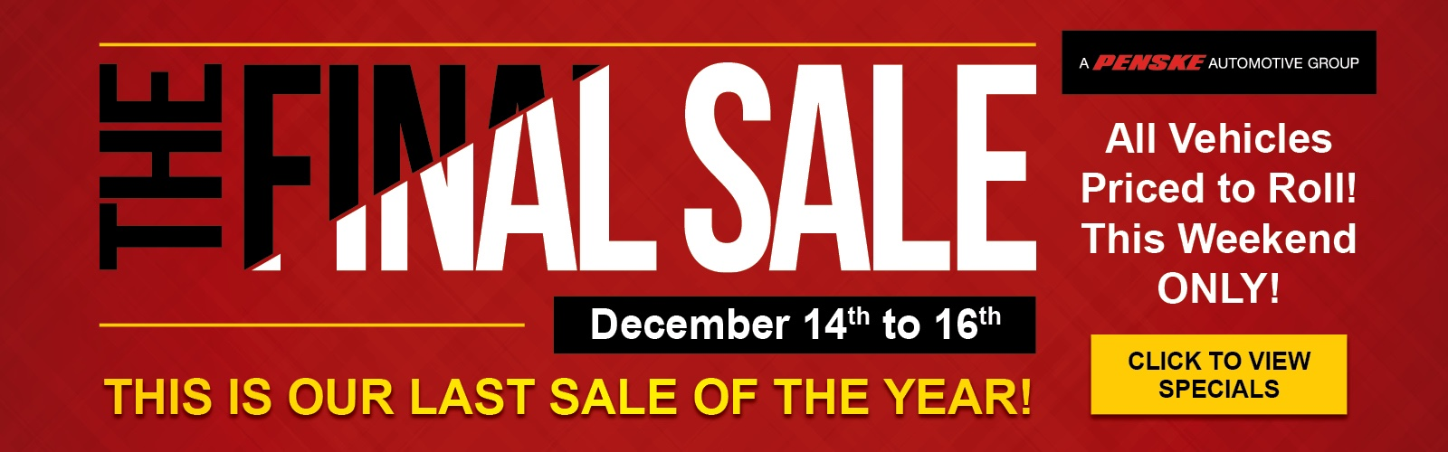 The Final Sale Sales Event