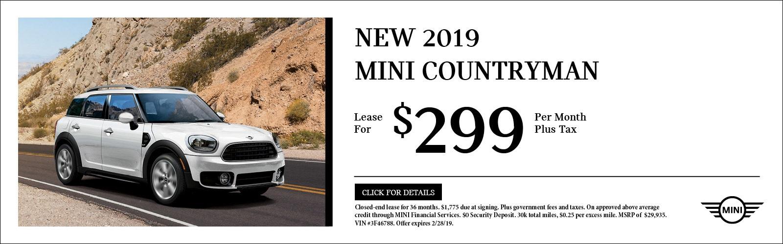 2019 Mini CountryMan