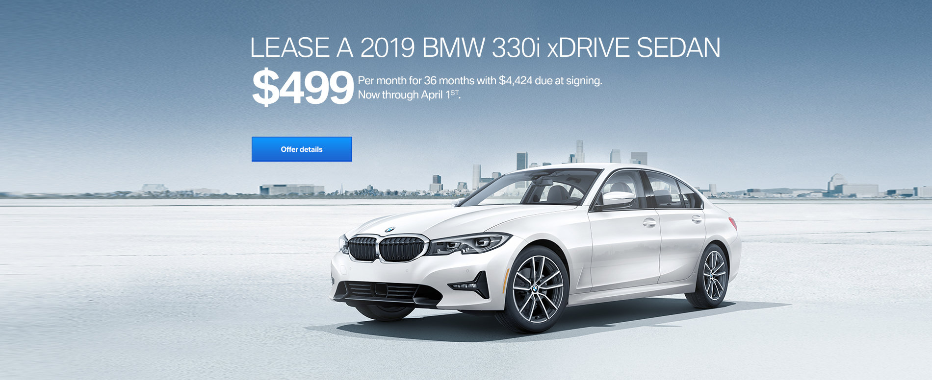LEASE A 2019 BMW 330i xDRIVE FOR $499/MONTH FOR 36 MONTHS WITH $