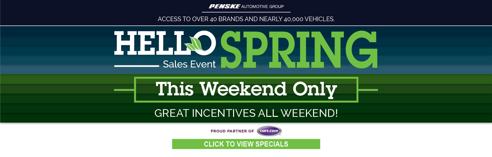 Hello Spring Sales Event