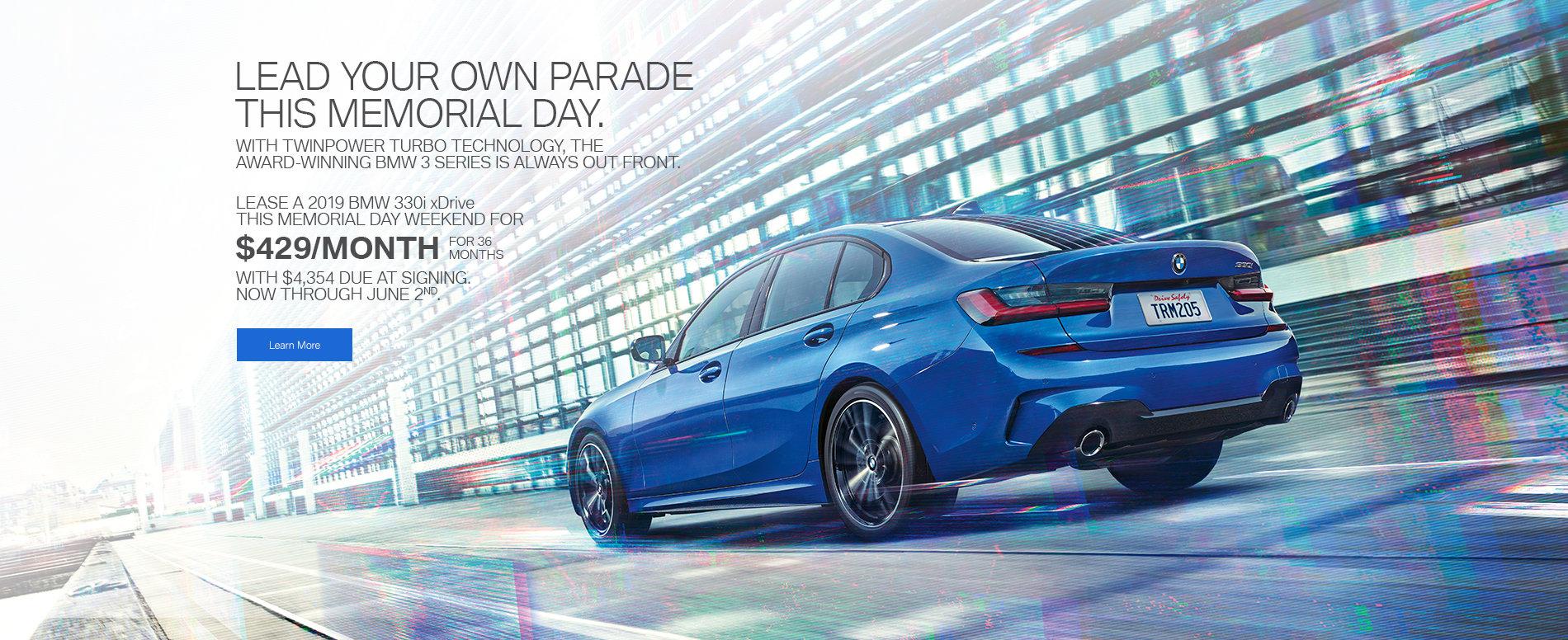 2019 BMW 3 series Memorial Day
