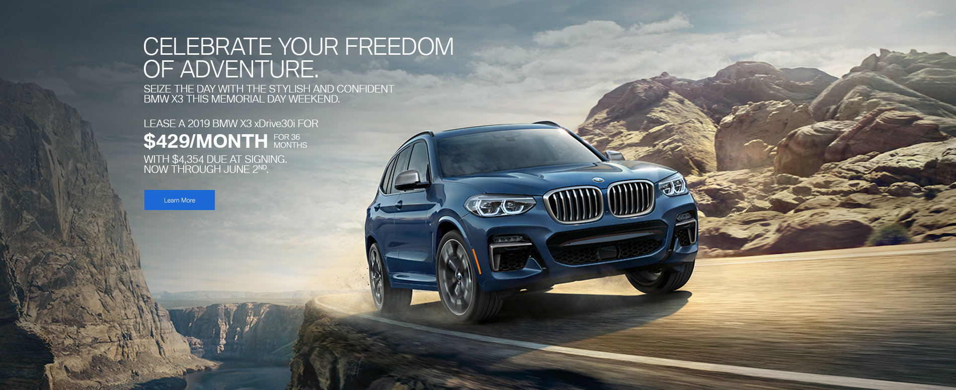 2019 BMW X3 Memorial Day