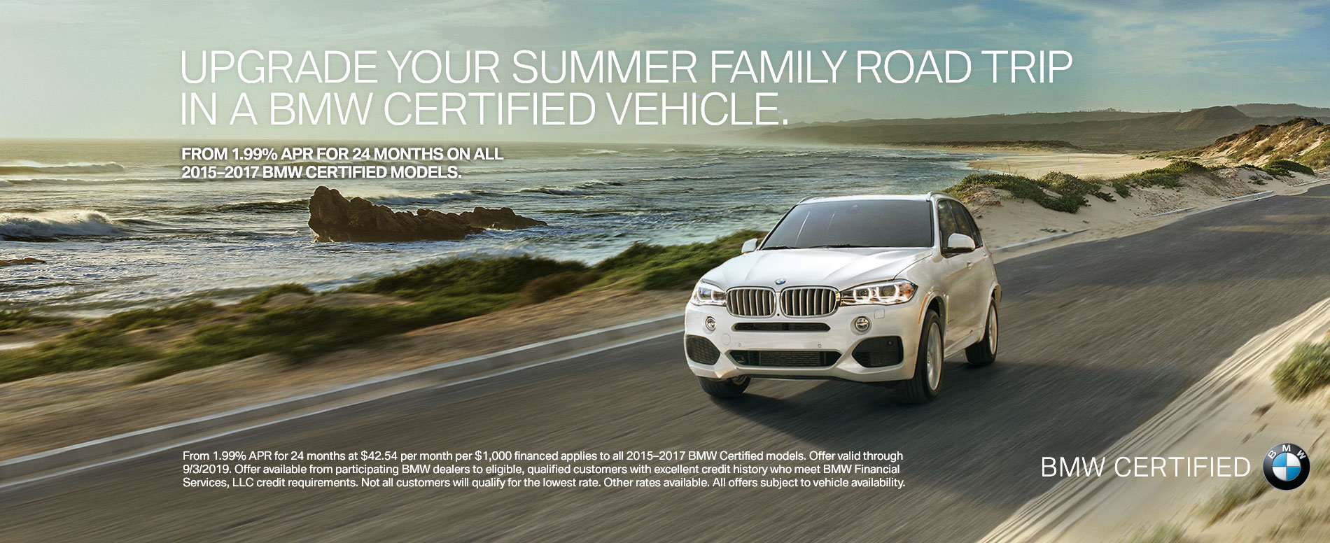 from 1 99% apr for 24 months on all 2015-2017 bmw certified mode