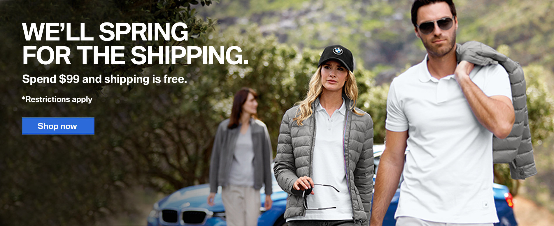 Orders over $99 on ShopBMWUSA.com qualify for free shipping