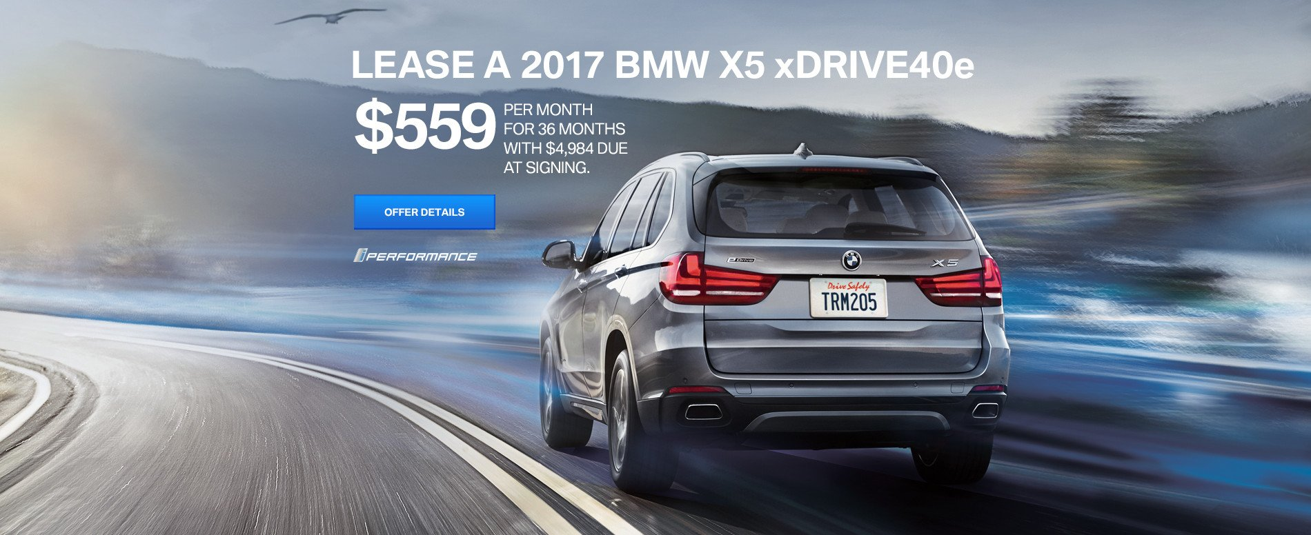 X5 xDrive40e Lease for $559/mo for 36 months
