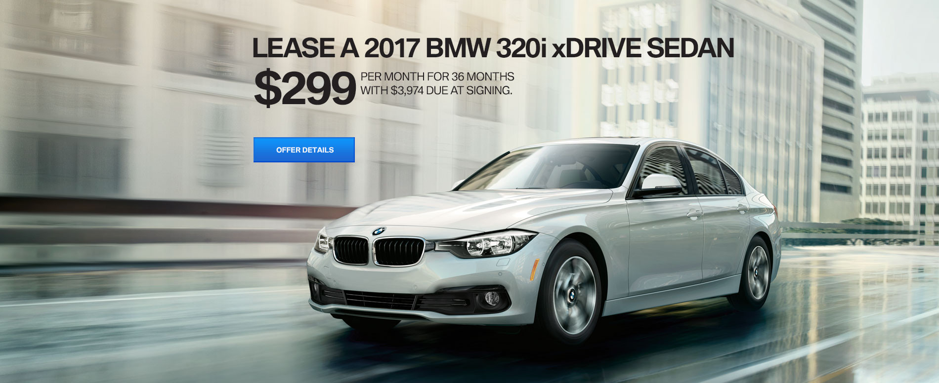 320i xDrive Sedan Lease for $299/mo for 36 months