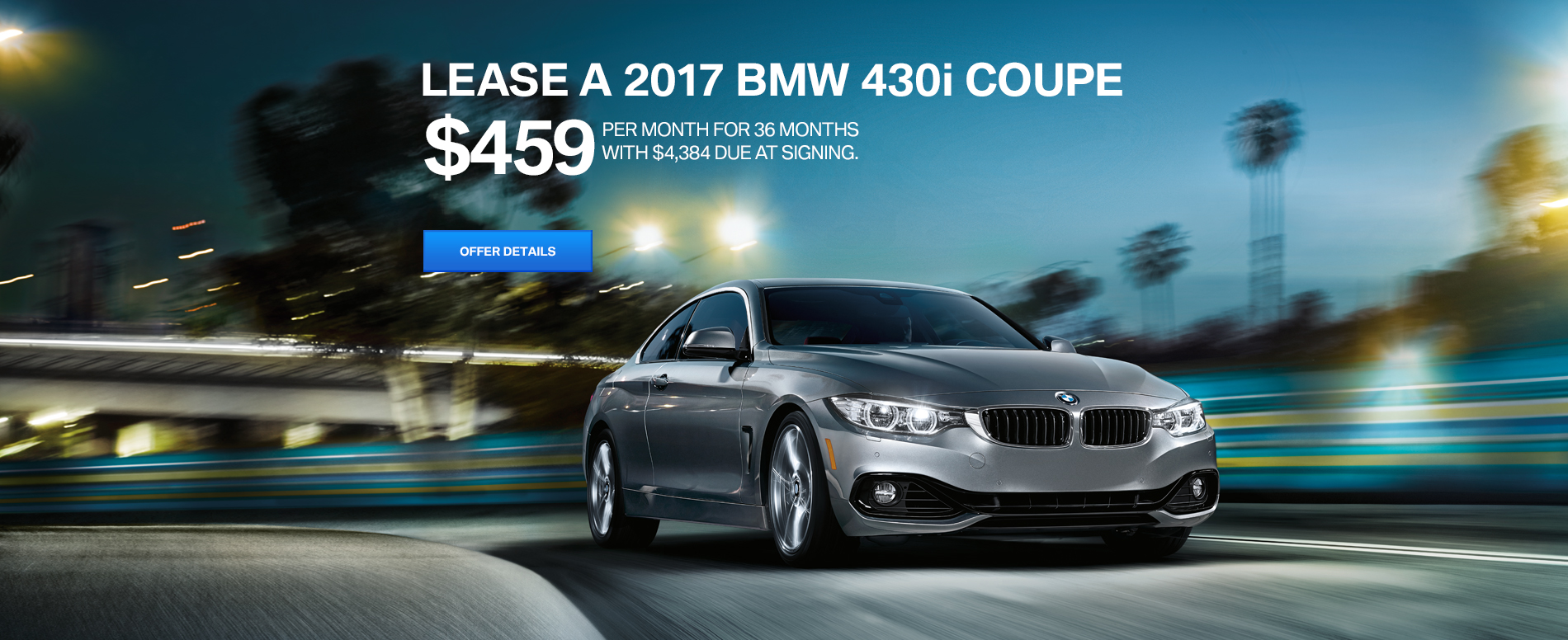 LEASE A 2017 BMW 430i COUPE FOR $459/MO FOR 36 MONTHS