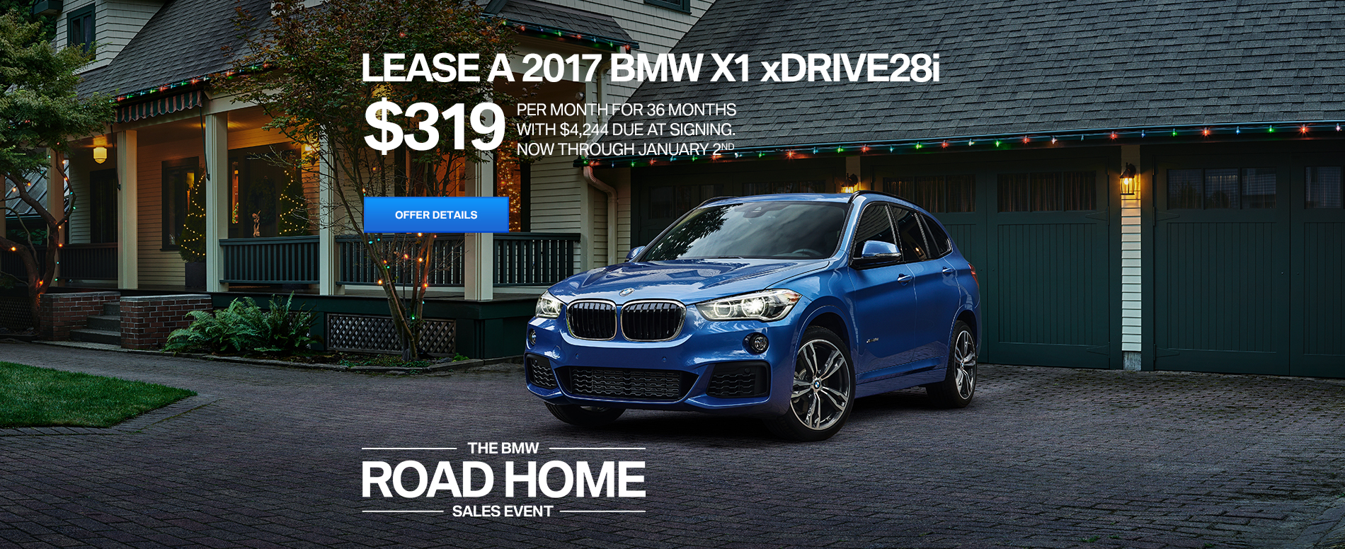 LEASE A 2017 BMW X1 xDrive28i FOR $319/MO FOR 36 MONTHS WITH $4,
