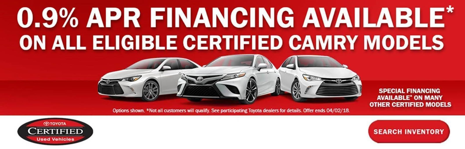 Toyota Certified Offer March 2018