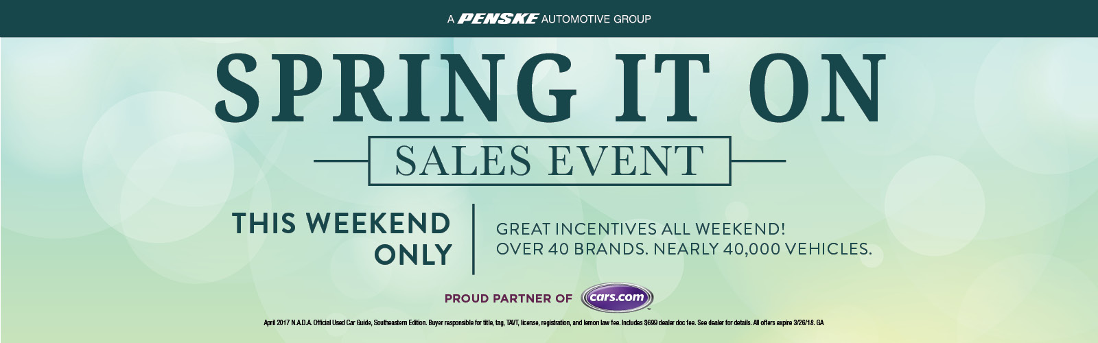 Spring It On Sales Event