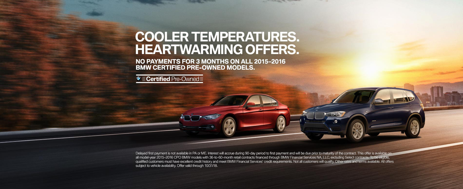 No Payments for 3 Months on all 2015-2016 BMW Certified Pre-Owne