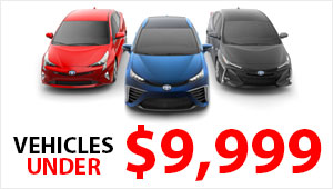 Vehicles Under $9,999 Button