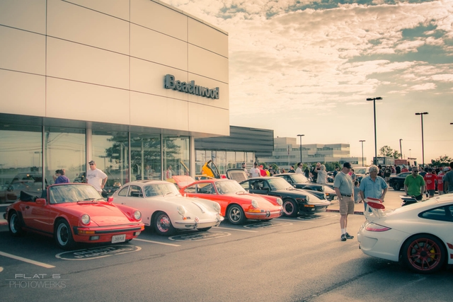 Classic Porsches up front!