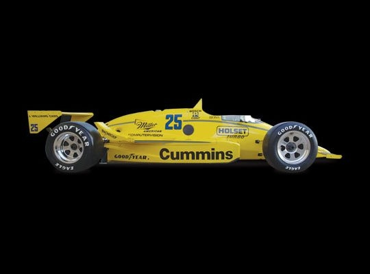 March 86C | 1987 Indianapolis 500 Winner | Al unser Sr. Engine: Cosworth Ford DFX V8 | Horsepower: 700bhp @ 10,000 RPM