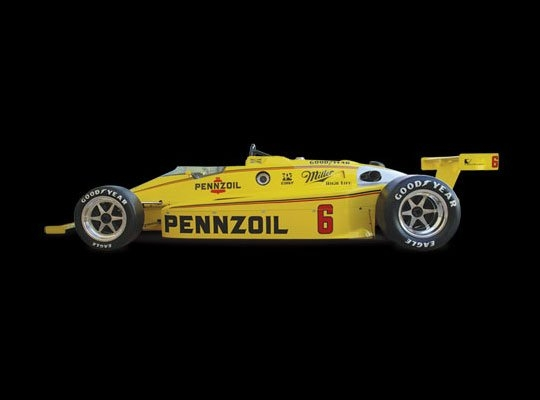 March 84C | 1984 Indianapolis 500 Winner | Rick Mears Engine: Cosworth Ford DFX DOHC V8 | Horsepower: 700bhp @ 10,000 RPM