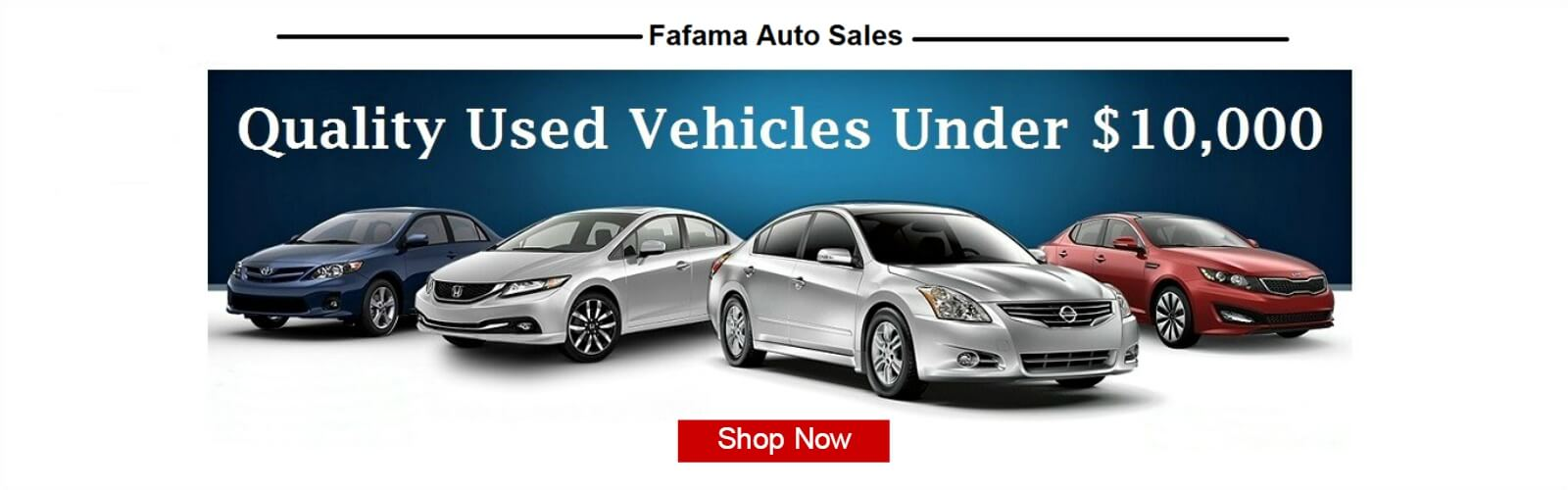 Fafama Used Cars Under $10,000