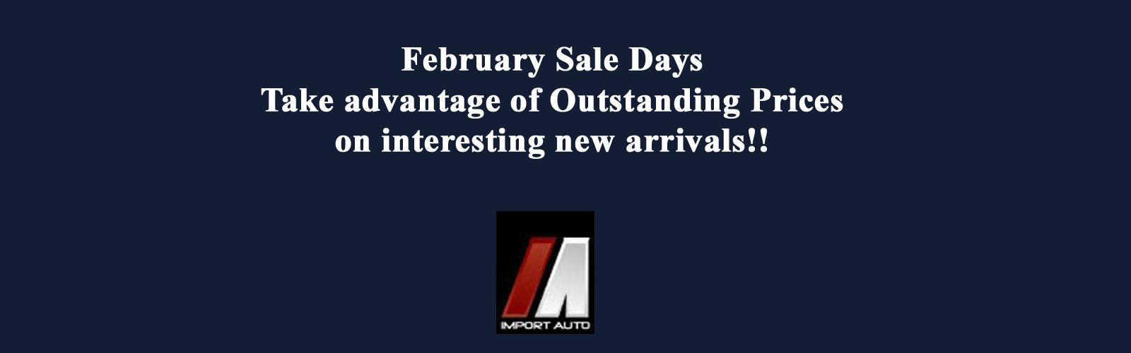 February Sale Days