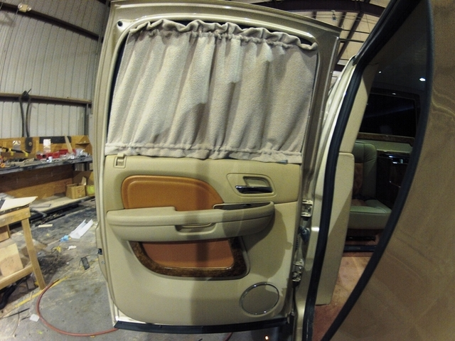 custom door panels and curtains