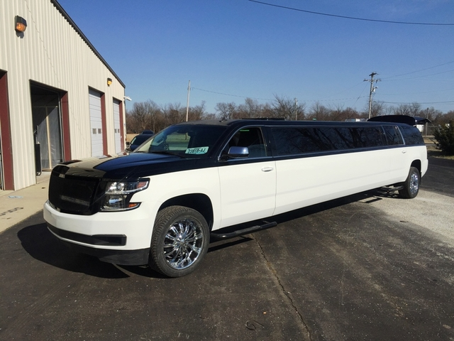 Two tone SUV Limo