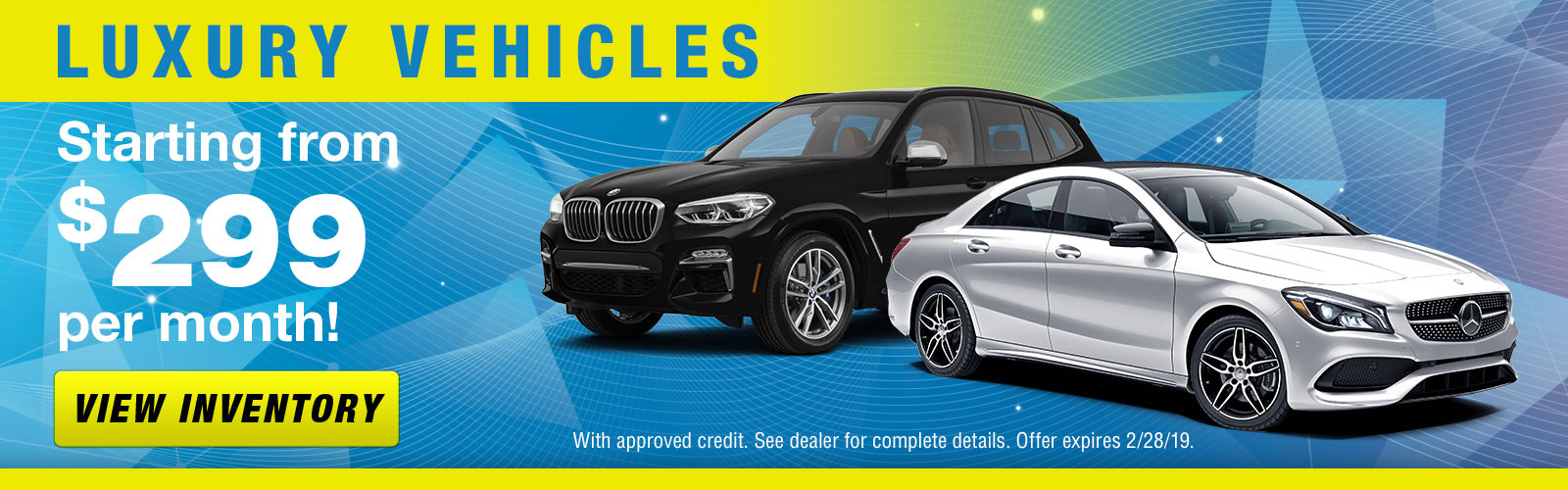 Luxury Vehicles Slider - Feb 2019
