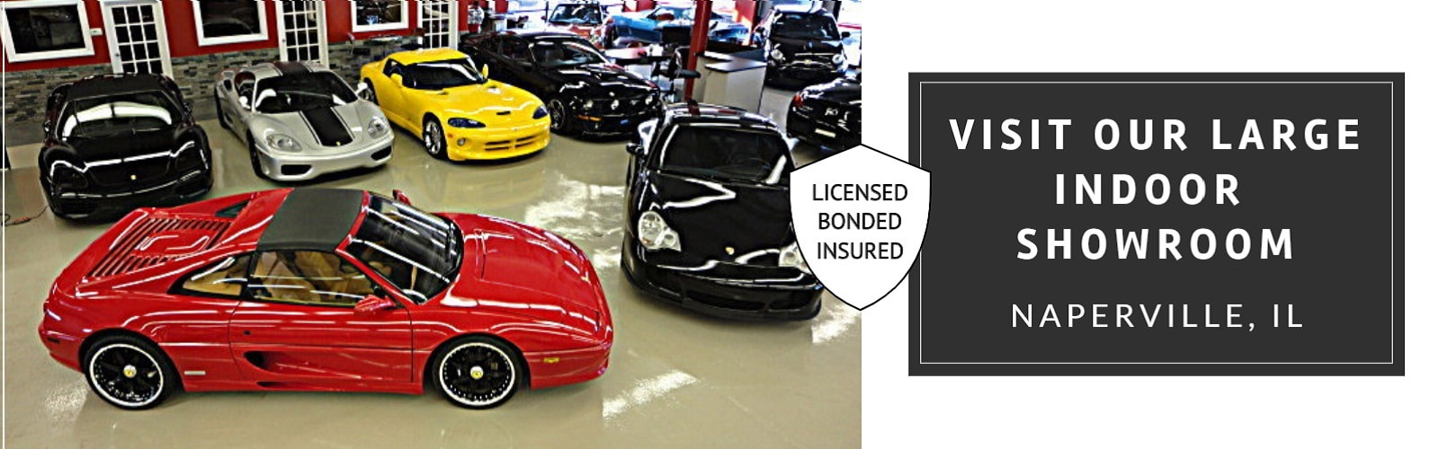 Visit Our Large Indoor Showroom - Naperville Auto