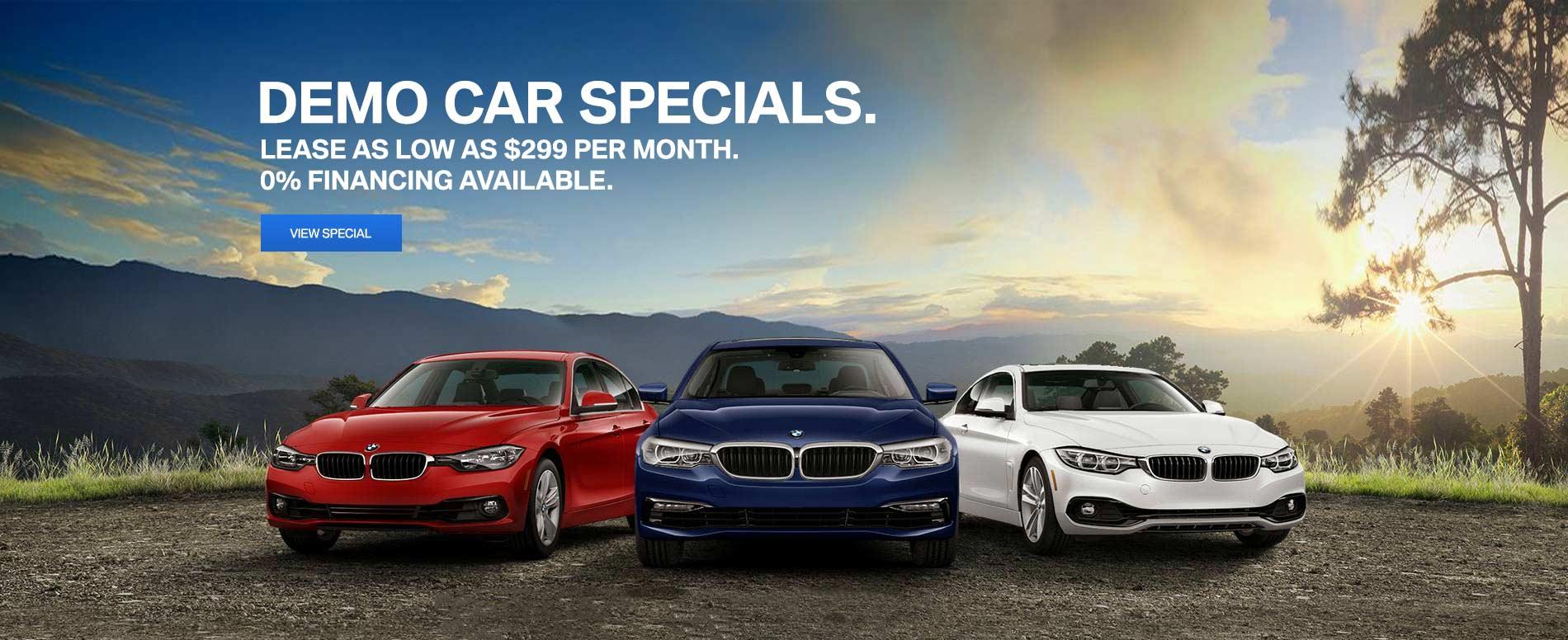 Demo Car specials 12/7/17