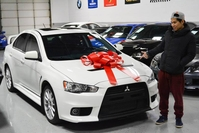 blake purchased this fully loaded wicked white evo x gsr and is taking it back home to chicago il