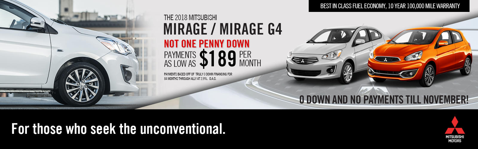 Mirage Vehicle Offer 8-6-18