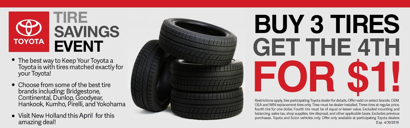 Toyota Tire Offer April 18
