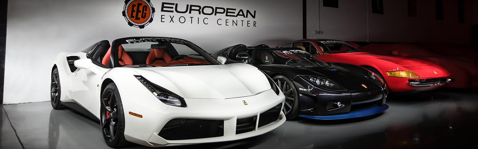 Showroom with 488 Spider, Koenigsegg, Daytona