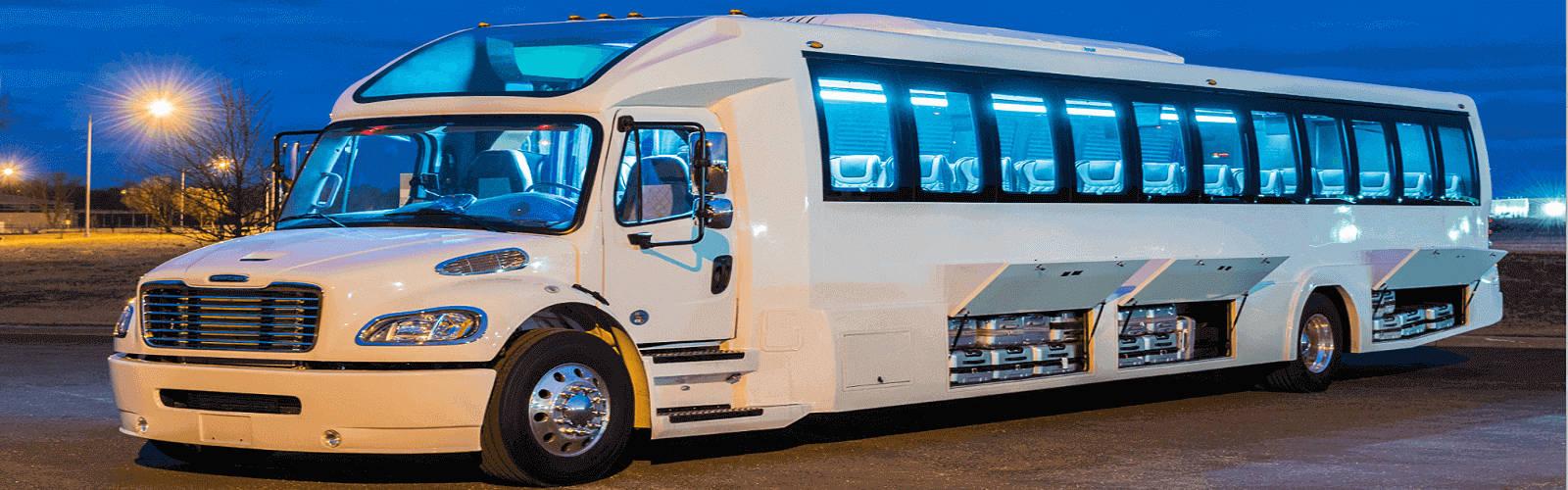 White limo bus