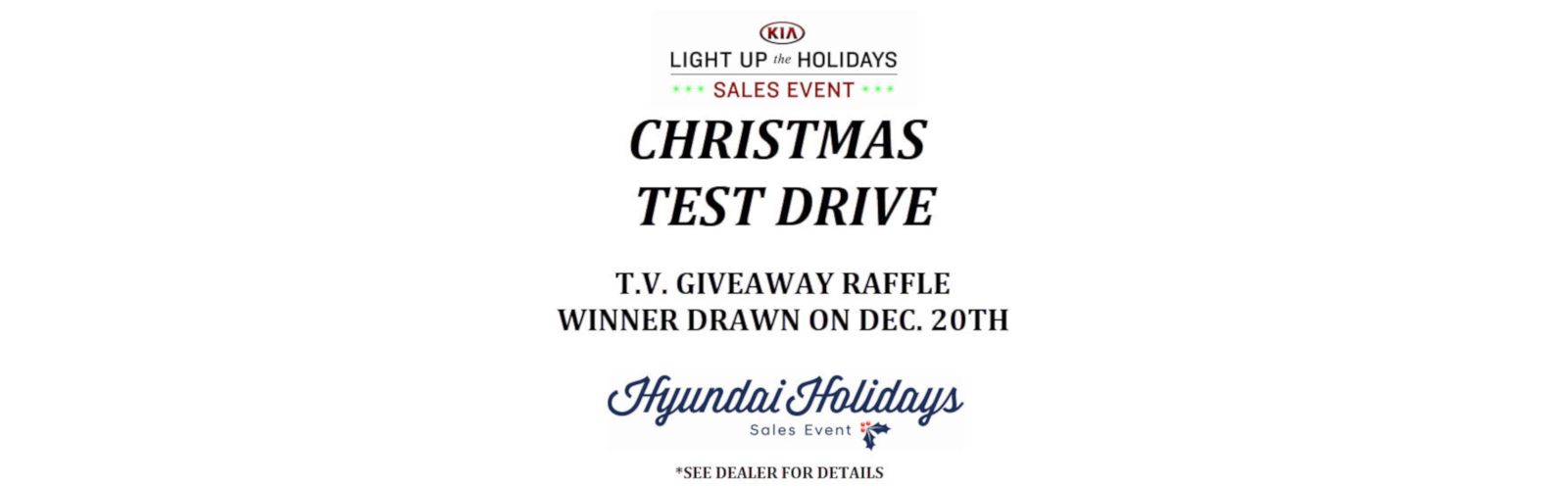 Christmas Test Drive TV Raffle 12/5/18