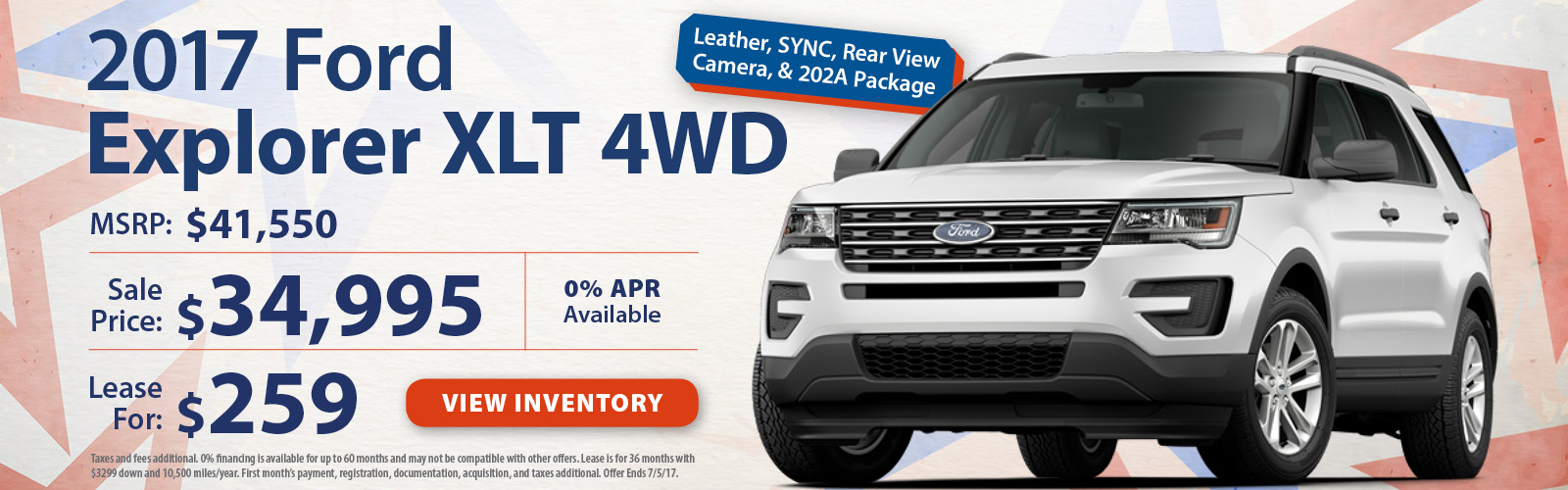 Stoneham Ford Explorer June Special