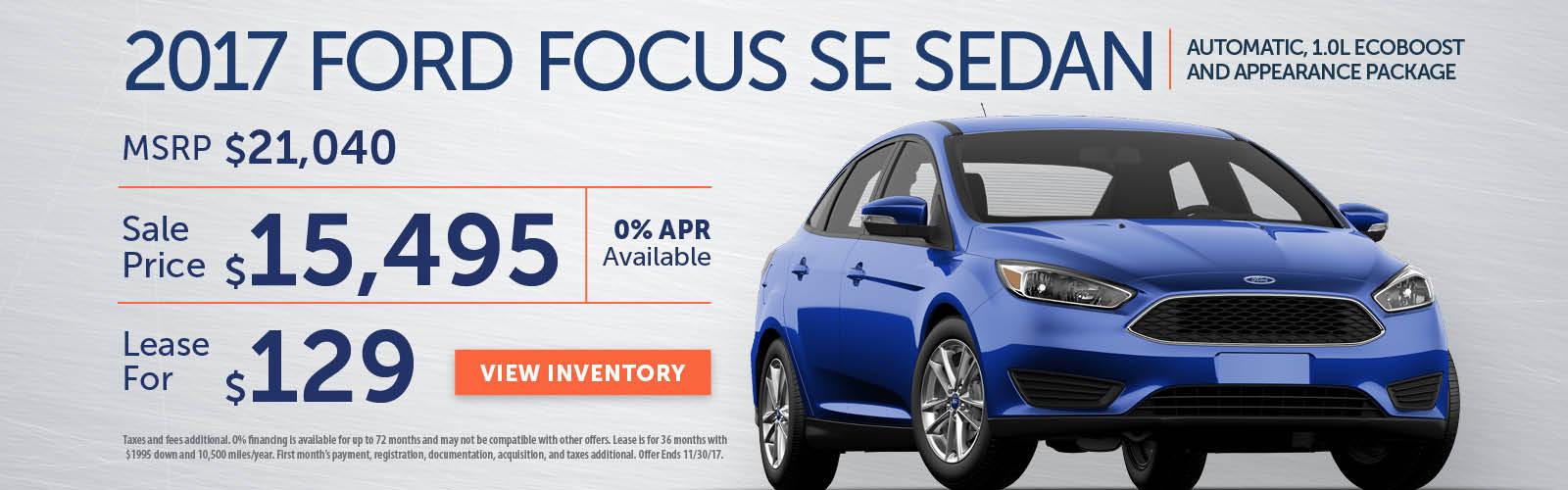 Focus Stoneham Ford Nov 17