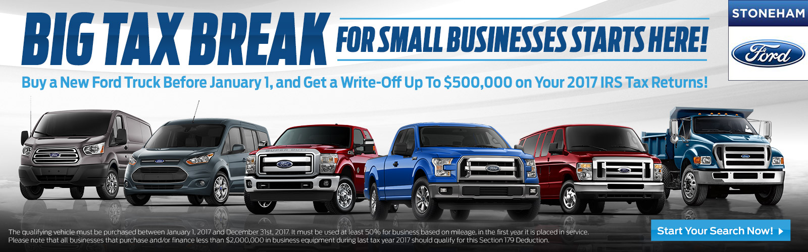 Stoneham Ford Tax Savings 2017