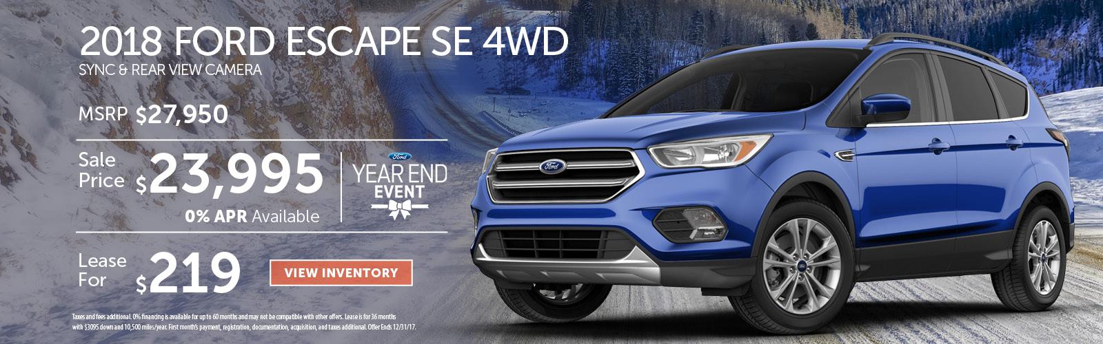 Escape Stoneham Ford Dec 17