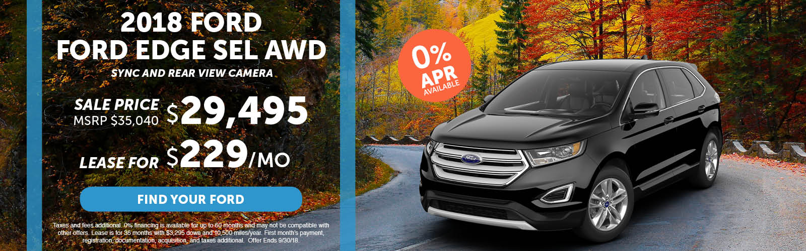 Ford Edge Special September 2018