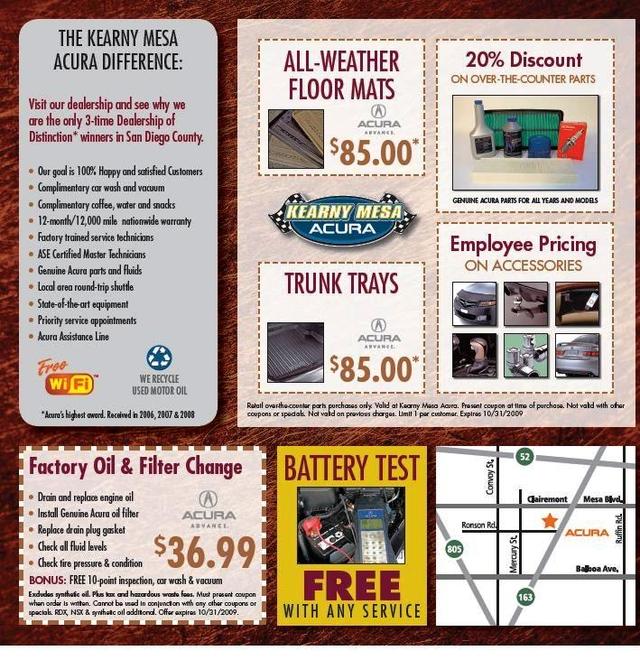 Kearny Mesa Acura >> Acura Service & Parts Deals | Kearny Mesa Acura - San Diego, CA