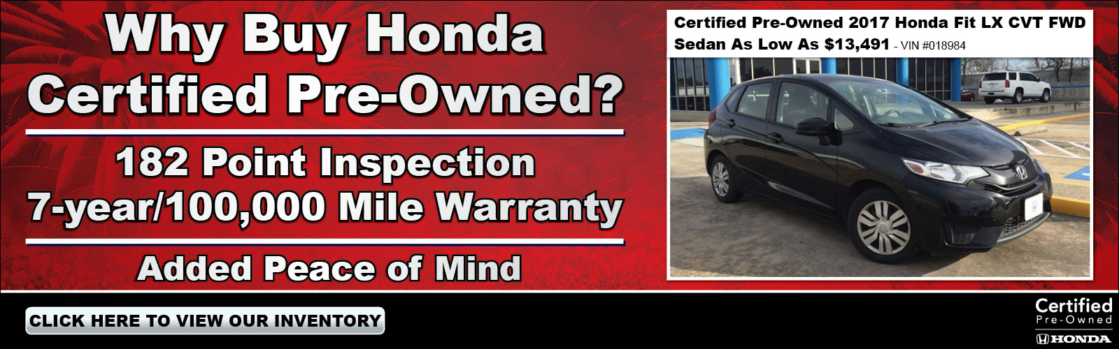 Certified Pre Owned 01/04/19