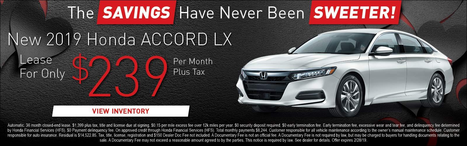 Honda Accord LX 020519