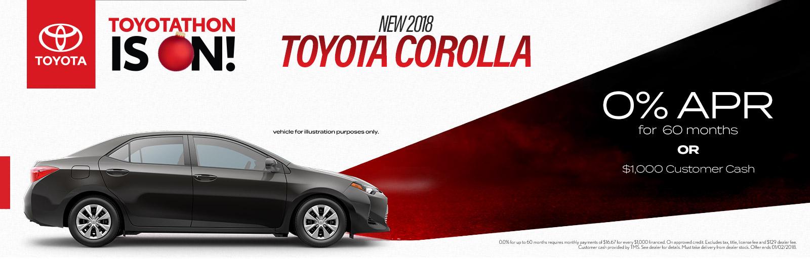 2018 Corolla 11/17/17