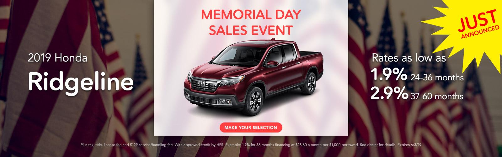 2019 Honda Ridgeline 05/03