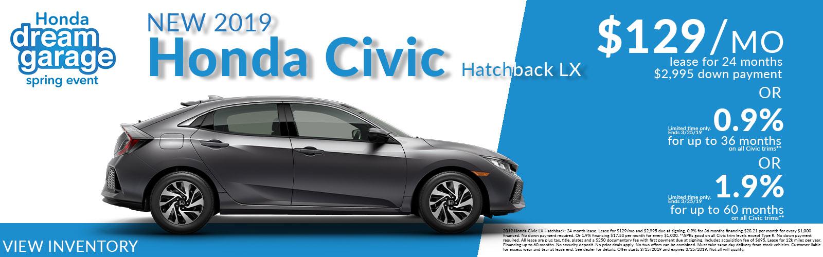 Civic Hatchback Upd 03/15