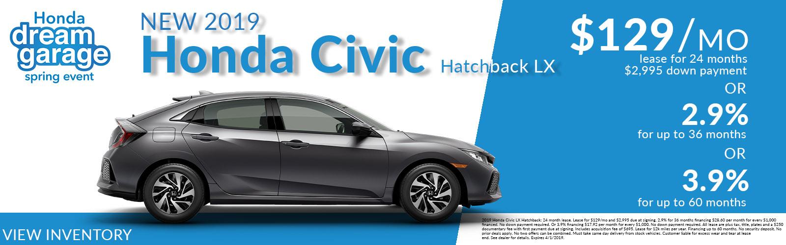 Civic Hatchback 03/26