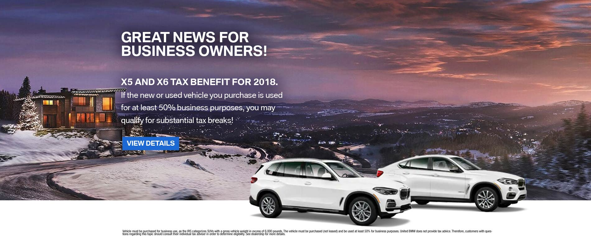 X5 X6 Tax Benefits 11/30/18