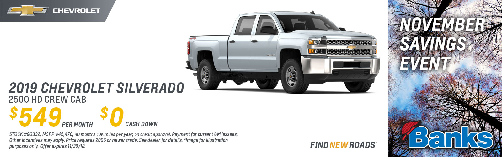 Silverado Lease Deal NH November 2018