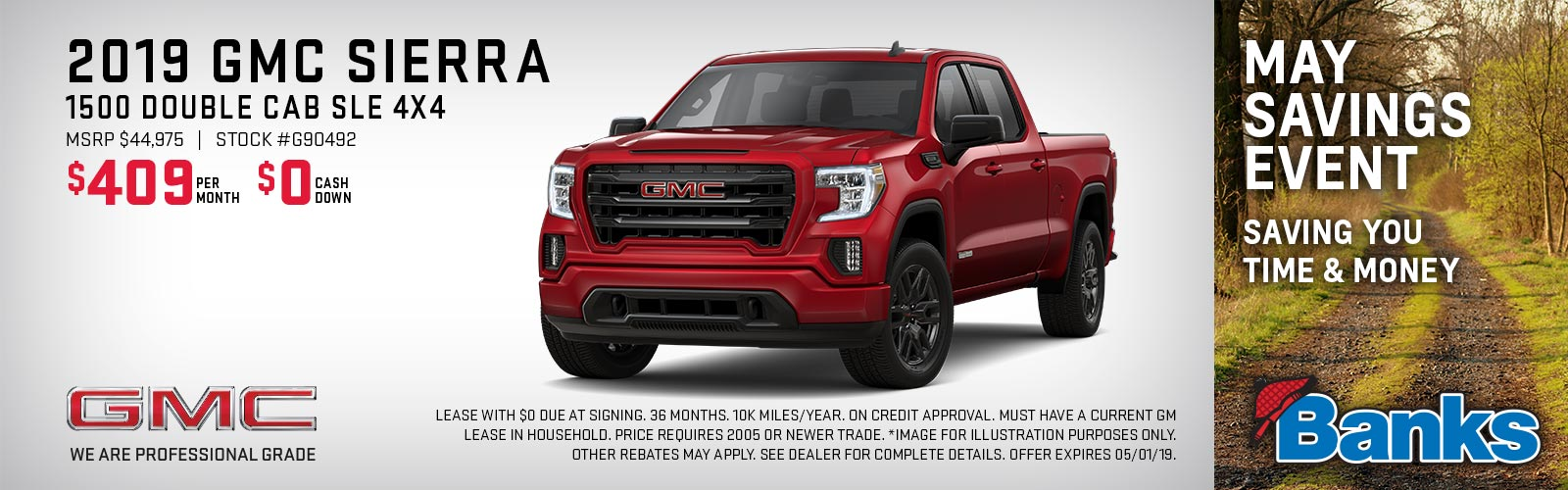 Sierra double cab May 2019