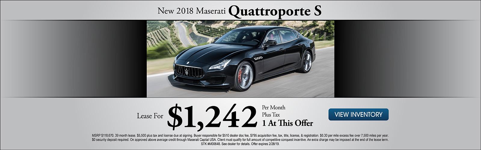 Quattroporte S 2/8/19