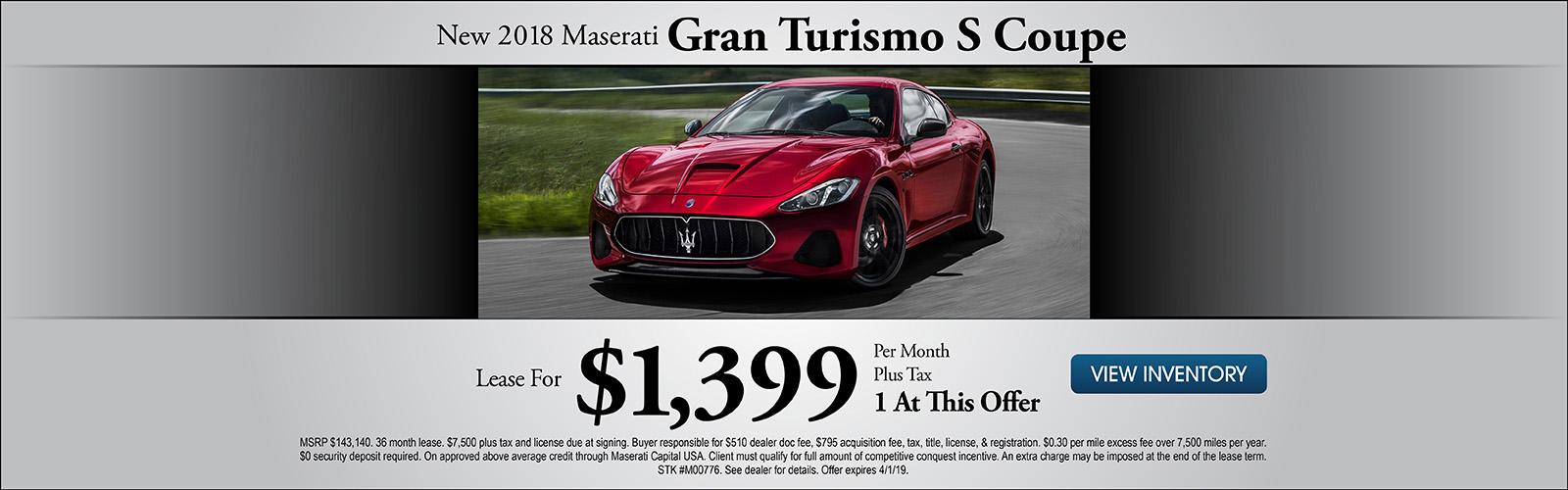 Gran Turismo S 3/8/19