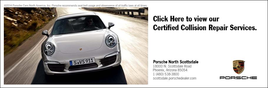 Auto Body Shop Collision Center Phoenix And Scottsdale AZ - Porsche collision repair